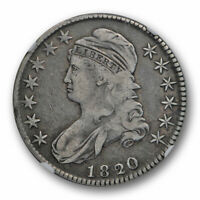 1820/19 50C CURL BASE 2 CAPPED BUST HALF DOLLAR NGC VF 30  FINE TO EXTRA FINE