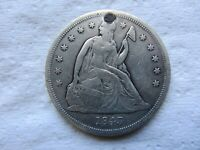 1843 SEATED LIBERTY SILVER DOLLAR VF DETAIL