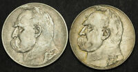 1933 POLAND  2ND REP. . LARGE SILVER 10 ZLOTYCH