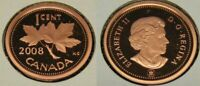 2008 CANADA FROSTED ONE CENT PENNY PROOF  NON METALIC