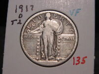 1917-D T2 STANDING LIBERTY QUARTER VF  COMBINED SHIPPING