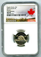 2020 CANADA 5 CENT CLASSIC NICKEL NGC MS69 FIRST RELEASES  T