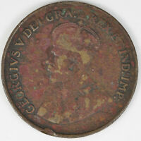 1923 CANADA CANADIAN PENNY 1 CENT 1C