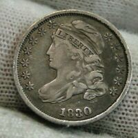 1830 CAPPED BUST DIME 10 CENTS -  COIN, SHIPS FREE  9547