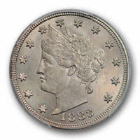 1883 5C WITH CENTS LIBERTY HEAD NICKEL PCGS MINT STATE 64 UNCIRCULATED PLUS GRADE POP 8