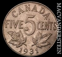 CANADA: 1931 FIVE CENTS   SCARCE  BETTER DATE  NR8683