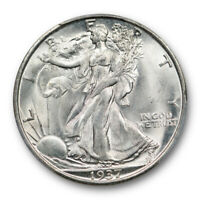 1937 S 50C WALKING LIBERTY HALF DOLLAR PCGS MINT STATE 65 UNCIRCULATED CAC APPROVED