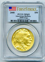 2008 $50 1 OZ .9999 GOLD AMERICAN BUFFALO PCGS MS69 FIRST ST