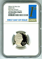2020 S JEFFERSON PROOF NGC PF70 UCAM FIRST DAY ISSUE 5 CENT