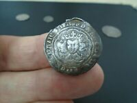 KING EDWARD III SILVER HAMMERED GROAT LONDON MINT FRENCH TIT