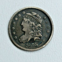1835 CAPPED BUST HALF 1/2 DIME 5 CENTS SILVER COIN  99