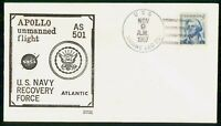 US SPACE 1967 APOLLO USS SABINA RECOVERY FORCE COVER