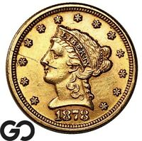 1878 S QUARTER EAGLE $2.5 GOLD LIBERTY DETAILS SCRATCH INVES