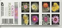 2019 FOREVER CACTUS FLOWERS COMPLETE BOOKLET OF 20 SCOTT 535