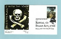 U.S. FDC 5064  DAVE CURTIS CACHET   REPEAL OF THE STAMP ACT