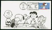 US FDC 2001 COVER PEANUTS & SNOOPY KKM53793