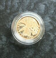 1987 GOLD PROOF $5.00 CONSTITUTION BICENTENNIAL COIN 1/4 OUN