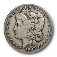 1893 S $1 MORGAN DOLLAR PCGS VG 10  GOOD TO FINE KING OF THE MORGAN DOLLA