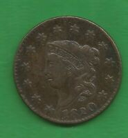 1820 MATRON HEAD LARGE CENT LARGE DATE   200 YEARS OLD