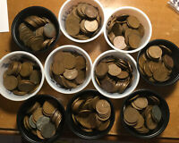 LOT OF 10 ROLLS500 LINCOLN WHEAT CENTS 5-ROLLS-1940S & 5-ROLLS-1950'S P-D-S