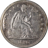 1846 SEATED LIBERTY DOLLAR CHOICE EXTRA FINE  DETAILS  EYE APPEAL  STRIKE