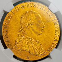 Click now to see the BUY IT NOW Price! 1809 AUSTRIAN EMPIRE FRANCIS I. LARGE GOLD 4 DUCATS COIN.   NGC AU55