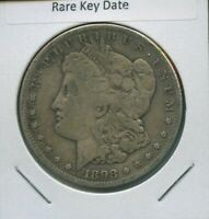 1898 S MORGAN DOLLAR $1 US MINT  KEY DATE SILVER COIN 1898-S
