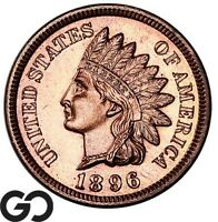 1896 INDIAN HEAD CENT PENNY PROOF SOLID GEM PR