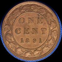 CANADA 1891 SDLL LARGE CENT OLD WORLD COIN