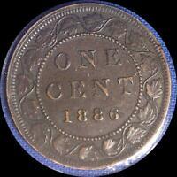 CANADA 1886 LARGE CENT OLD WORLD COIN HIGH GRADE