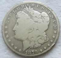 1879-CC $1 MORGAN SILVER DOLLAR VG DETAILS MANY SCRATCHES    SEE PHOTOS