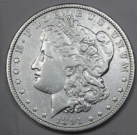1891-P MORGAN SILVER DOLLAR. HIGH GRADE INV.A