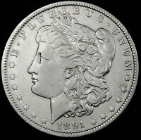 1891-P  MORGAN SILVER DOLLAR.  HIGH GRADE. INV.A