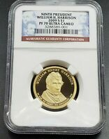 2009 S WILLIAM H. HARRISON  PRESIDENTIAL DOLLAR COIN NGC PF70 UCAM