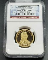 2009 S WILLIAM H. HARRISON  PRESIDENTIAL DOLLAR COIN NGC PF69 UCAM