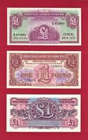 UK BRITISH ARMED FORCES  BAF  MILITARY UNC NOTES  ONE POUND