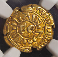 1250 KINGDOM OF SICILY FREDERICK II. GOLD 6 TARI COIN.  5.95GM   NGC AU 55