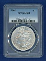 1902 P PCGS MINT STATE 62 MORGAN SILVER DOLLAR $1  DATE 1902-P MINT STATE 62 PQ COIN