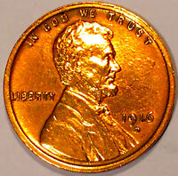 1916 D LINCOLN CENT CHOICE BU RED 1