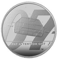THE ROYAL MINT PAY ATTENTION 007 2020 UK TWO OUNCE SILVER PR