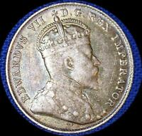 CANADA 1903 H 10 CENTS OLD SILVER WORLD COIN