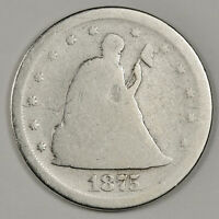 1875 S 20 CENT PIECE.  CIRCULATED.  151593
