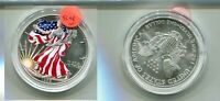 1999 AMERICAN SILVER EAGLE 1 OUNCE COLORIZED COIN 5598N