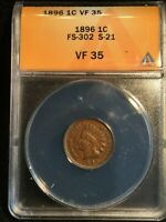X 1896 INDIAN HEAD CENT