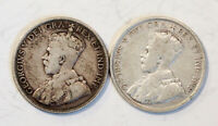 CANADA 1936 FIFTY CENTS X 2