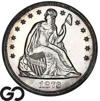 1873 SEATED LIBERTY DOLLAR PROOF HIGHLY DEMANDED GEM PR   ON