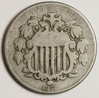 1867 SHIELD NICKEL.  WITH RAYS.
