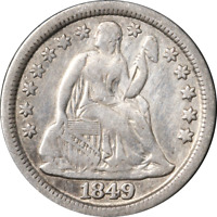 1849-P SEATED LIBERTY DIME GREAT DEALS FROM THE EXECUTIVE COIN COMPANY