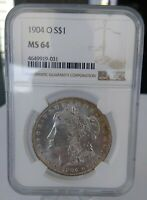 1904-O MORGAN SILVER DOLLAR NGC MINT STATE 64
