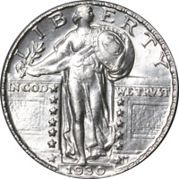 1930-P STANDING LIBERTY QUARTER GREAT DEALS FROM THE EXECUTIVE COIN COMPANY